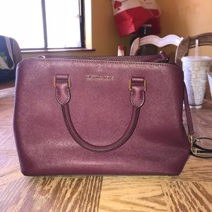 Micheal Kors medium savannah leather satchel